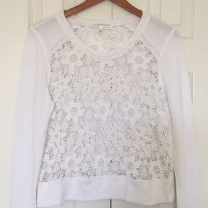 Victoria's Secret lace sweatshirt